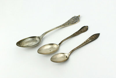 Sterling Silver Souvenir & Demitasse Spoons from Colorado