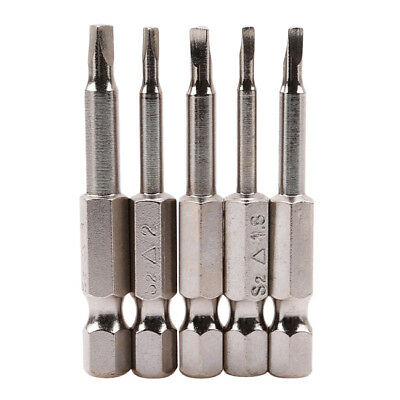 5pcs Magnetic Silver Triangle Heads Screwdriver Bits S2 Steels Hex Shank S