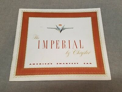 Vintage The Imperiam By Chrysler Brochure Catalog