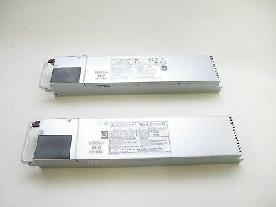Lot of 2 Supermicro PWS-1K62P-1R Server Switching Power Supply 1620W CSE-827