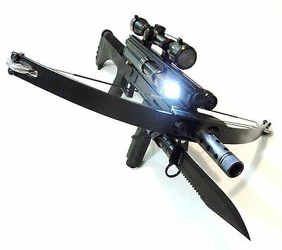 WT4 TACTICAL CROSSBOW BAYONET ,Tactical Light, Laser sight , Scope & Cannon tip
