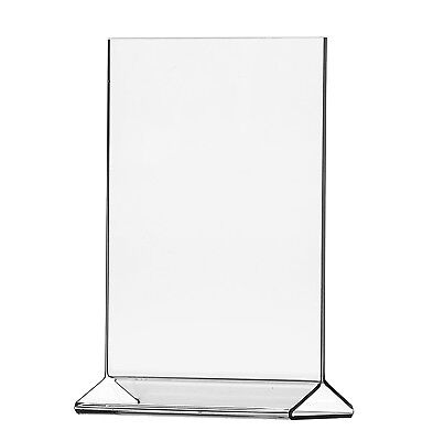 """11""""W x 17""""H Ad Frame Double sided Table Sign Holder Frame Lot of 2"""