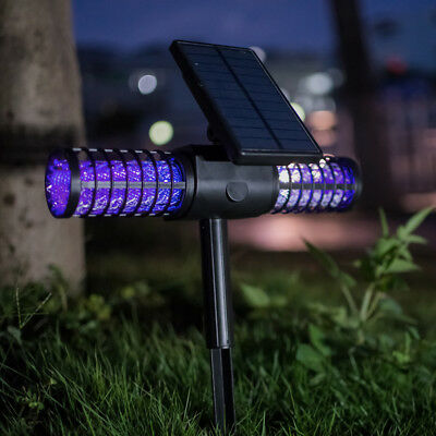 Solar LED Insect Mosquito Killer Light Pest Bug Zapper Repellent Outdoor Lamp