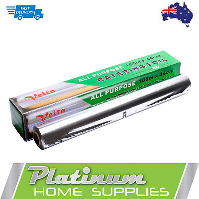 Aluminium Foil Roll Wrap Kitchen All Purpose Catering Dispenser 44cm x 150cm