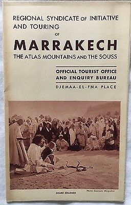 Vintage 1930s(?) Marrakech Morocco The Atlas Mountains Travel Brochure