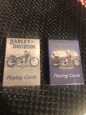 NEW Set of 2 Playing Cards Harley-Davidson Springer Softail & Heritage Softail