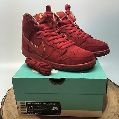 Nike Dunk High Premium SB CHINESE NEW YEAR CNY YEAR OF THE HORSE YOTH RED Sz 8.5