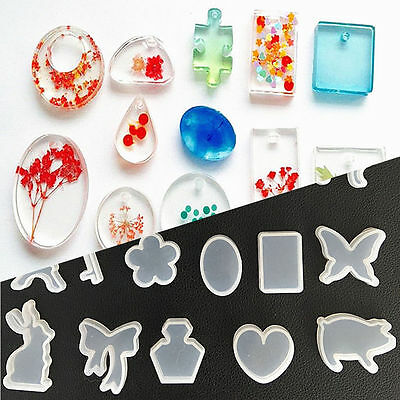 Clear Silicone Mold Making Jewelry Pendant Resin Casting Mould DIY Craft Tools