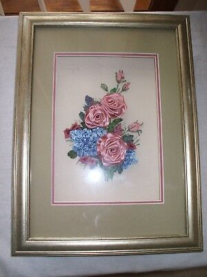 Silk ribbon embroidery picture