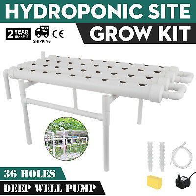 Hydroponic Grow Kit 36 Sites 4 Pipes Ebb Flow Garden Plant Berries HIGH GRADE