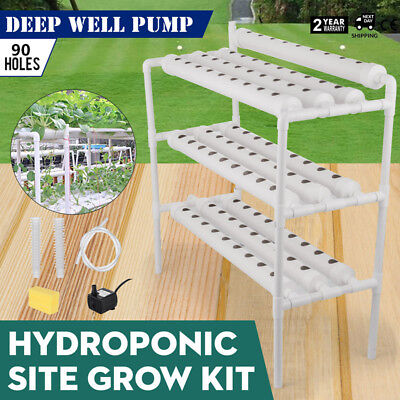 Hydroponic Grow Kit 90 Sites 10 Pipes Herbs Planting Sponge Terrace Type GREAT