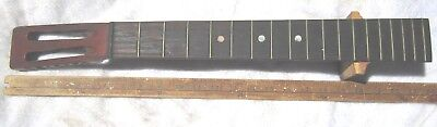 ANTIQUE 1870's SLOTTED PARLOR GUITAR NECK THICK -V- NECK EBONY W/ NUT NATIONAL