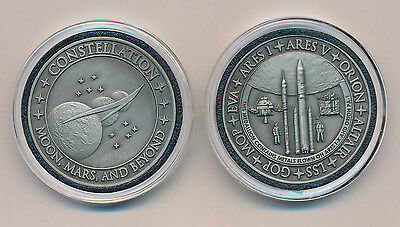 Medallion CONSTELLATION Moon Mars Beyond NASA COIN metal flown from Ares Orion