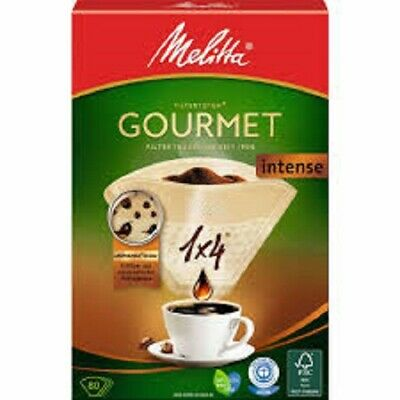 8 PACKS OF MELITTA GOURMET INTENSE 1 x 4 CUP 80 COFFEE FILTER PAPERS  6687861X8