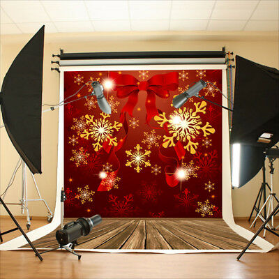 5x7ft Vinyl Backdrop Photography Prop Photo Background Xmas Red Happy NEW YEAR