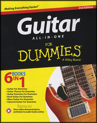 Guitar All-In-One for Dummies 2nd Edition TAB Music Book/Audio Learn How to Play
