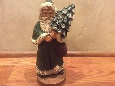 Inches Hand Carved Wooden Santa Claus 8 Inches Italy