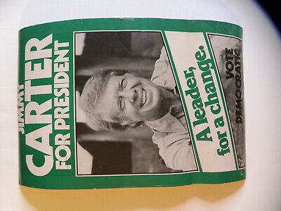 """1976 Jimmy Carter for President Primary Campaign Poster 13x21"""" NICE HISTORICAL"""