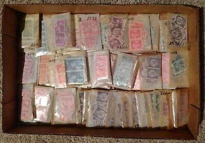 60 All Different Used US Stamps Collection In Glassines Postage Stamps Off Paper