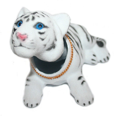 Bobble Head Mini White Tiger Cat