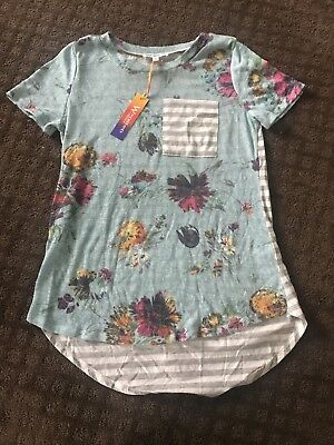 Boutique blouse sizes sm, med, and large sky blue floral nwt