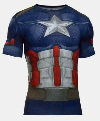 Under Armour® Alter Ego Captain America Compression Shirt All size Free Shipping