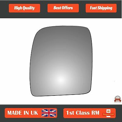 Citroen Dispatch Van 2007-12//2016 Non-Heated Upper Mirror Glass Drivers Side