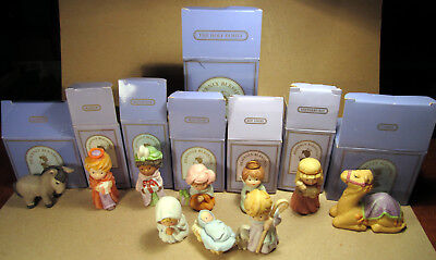 Heavenly Blessings Nativity Collection Avon Lot 10 Pieces 1986 1987 Vintage Xmas
