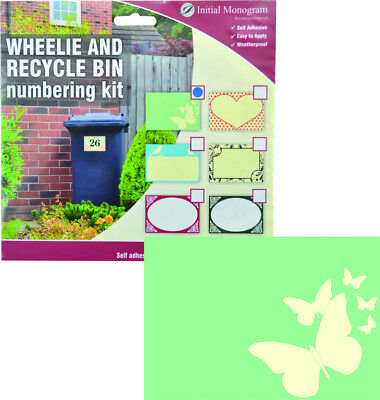 Wheelie and Recylce Bin Butterfly Decal