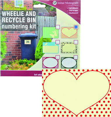 Wheelie and Recylce Bin Loveheart Decal