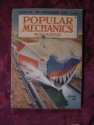 POPULAR MECHANICS Magazine November 1952 Fastest Train 52 Willys Aero