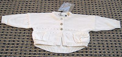 Jean Bourget French Designer Baby Girls Cardigan Sz 3 Months New With Tags