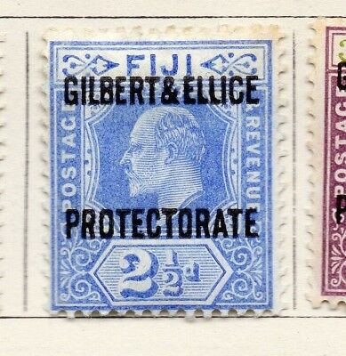 Gilbert and Ellice Islands 1911 Issue Fine Mint Hinged 2.5d. Optd EdVII 264653