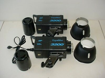 Lot of 2 SP Studio Systems Excalibur 3200 Monolight with Bag Accessories