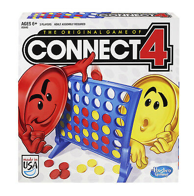 Hasbro Connect 4 Game Classic Grid Board Children's Family Board  Kids Gaming