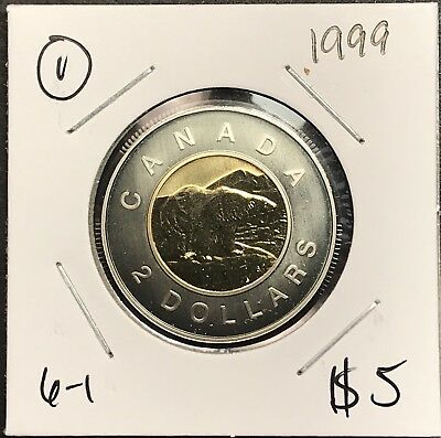 1999 Canada 2 Dollar Toonies Collector Coin For Your Collection.