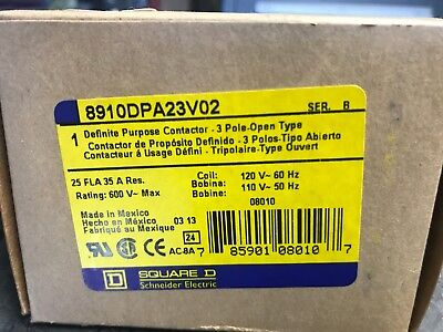 NEW Square D 8910DPA63V02 Definite Purpose Contactor Series A
