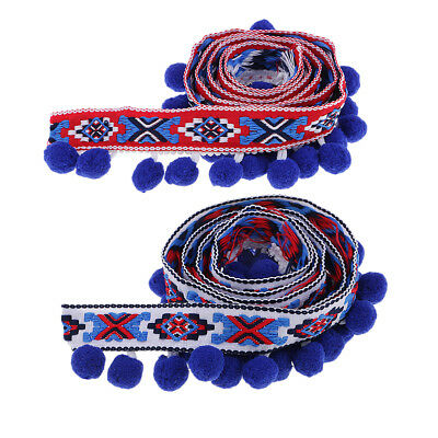 1yd 4cm Pom Pom Bobble Trim Ball Tassel Fringe Ribbon Embroidery DIY Apparel