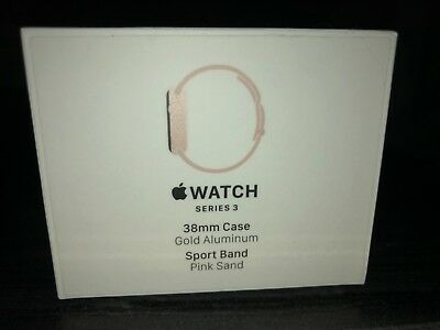 Apple Watch Series 3 EMPTY Box 38mm Box Only gold aluminum pink sand