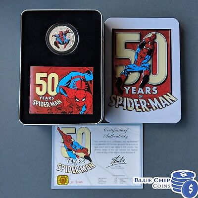 2013 Niue $2 50 Years of SpiderMan 1oz Silver Proof Coin
