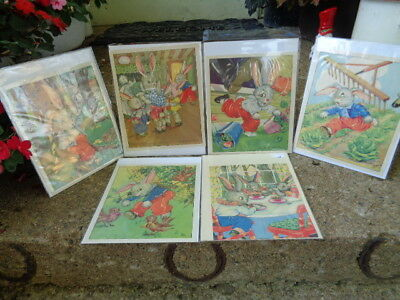 Vintage Peter Rabbit Prints Ruth Newton From Vintage Book Suitable for Framing