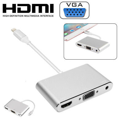 Lightning to HDMI VGA Digital AV Adapter Cable For Apple iPhone X 6 7 8P iPad
