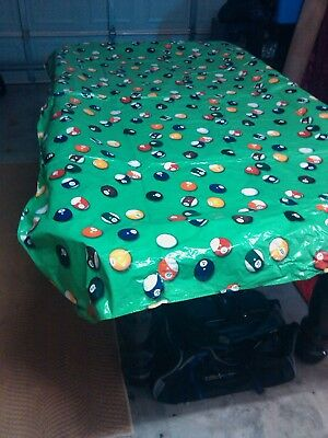 """Pvc Ball Table Cover 7' X 3'-6"""" Foot Billiard Pool Weighted Corners"""
