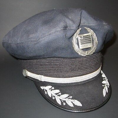 US Airways Captain Pilot Visor Cap Hat with Badge and Embroidery