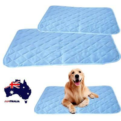 AU Pet Dog Cat Cool Mat Self Cooling Gel Pad Bed Mattress Heat Relief Cusion