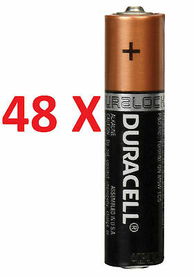 48 x DURACELL AA BATTERIES GENUINE ALKALINE DURA LOCK POWER 10 ENERGIZER BULK