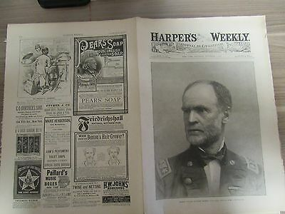 Harper's Weekly Newspaper - November 3, 1883 - 16 Pages - Complete, decent used