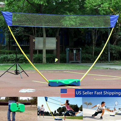 3 in 1 Portable Badminton Volleyball Net Set Outdoor Beach Backyard with Case