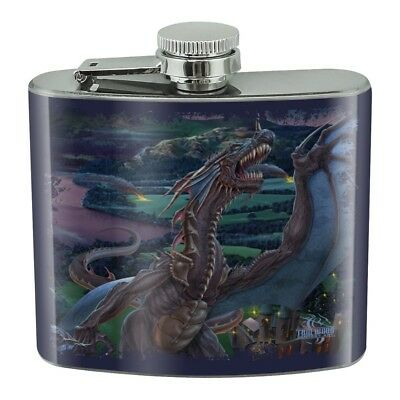 Dragon Flight The Last Stand Fantasy Stainless Steel 5oz Hip Drink Kidney Flask