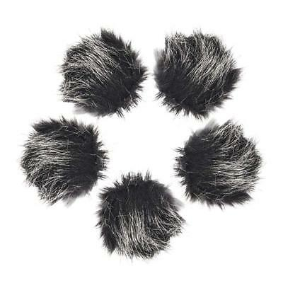 5pcs Universal Gray Lavalier Lapel Microphone Fur Wind Muff Windscreen Mic Cover